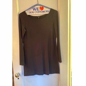 Black Theory Mini Dress with Zip Sleeves